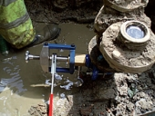 Faulty Hydrant Being Replaced Under Pressure