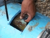 Blockage Located in 300mm PVC Pipe