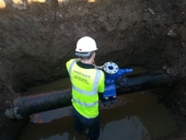Under Pressure Air Valve Being Installed