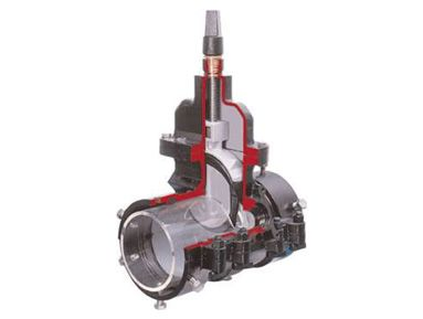 Sectional view of the valve