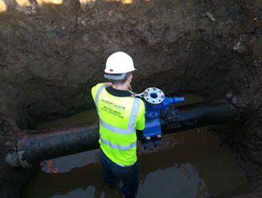 Installation of new air valve under pressure