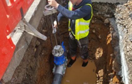 Bypass Being Installed On Existing Pipe